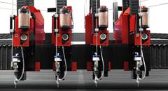Cabezal 2D maquina corte agua a presión waterjet