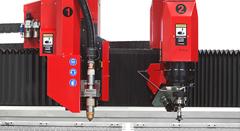 Máquina de corte waterjet y corte plasma TCI Cutting