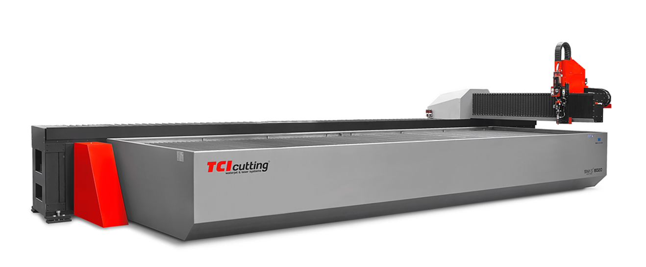 The SM-S waterjet cutting machine from TCI Cutting