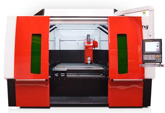 La machine découpe laser fibre de TCI Cutting,  Speedline Fiber 3015, rapidité et efficacité