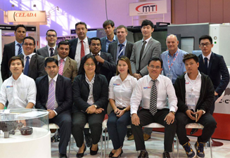 TCI Cutting Laser cutting machines at STEEL FAB 2017 in Dubai