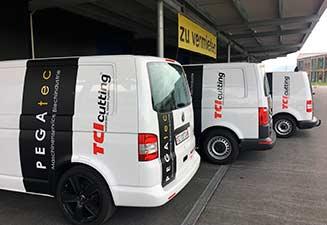 TCI Cutting lance une flotte de véhicules en Suisse pour distribuer et fournir une assistance technique a ses machines de decoupe laser