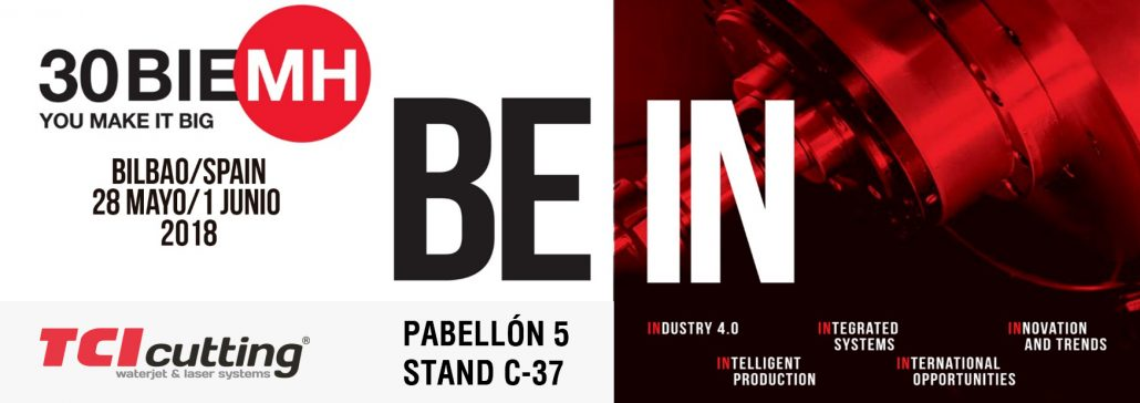 Banner BIEMH 2018 TCI Cutting pabellon 5 Stand c-37 BE-IN
