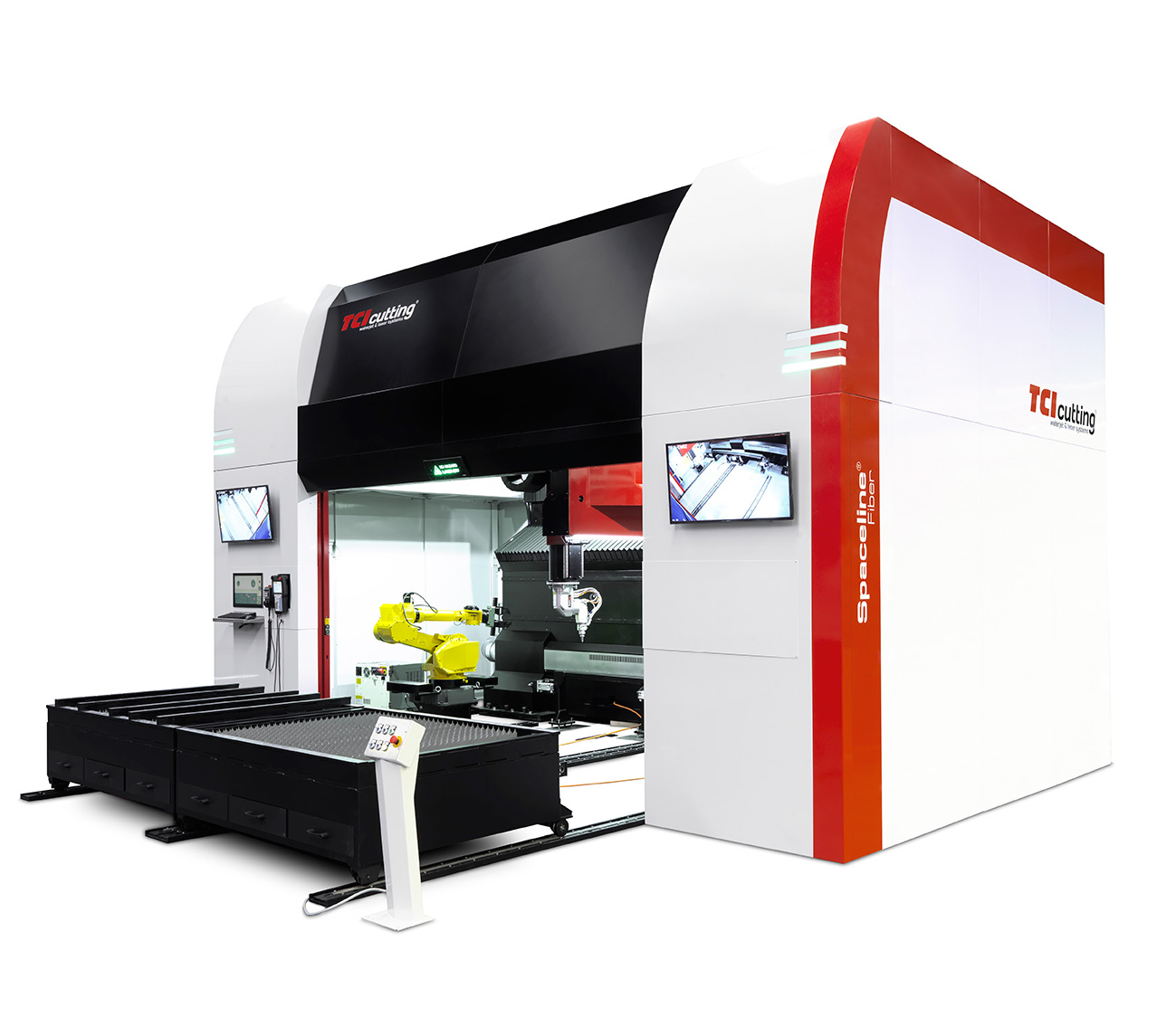 TCI Cutting Spaceline Fiber 3D cutting laser machine.
