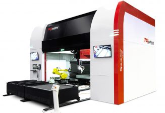 Spaceline Fiber, the intelligent 3D laser cutting solution.