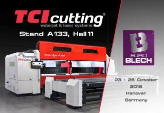 TCI Cutting exhibirá sus soluciones de corte industrial más avanzadas en EUROBLECH 2018.