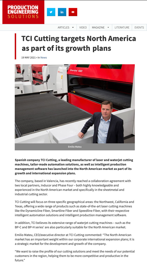 TCI Cutting - PES Magazine